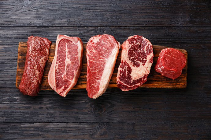 what are the 8 primal cuts of beef
